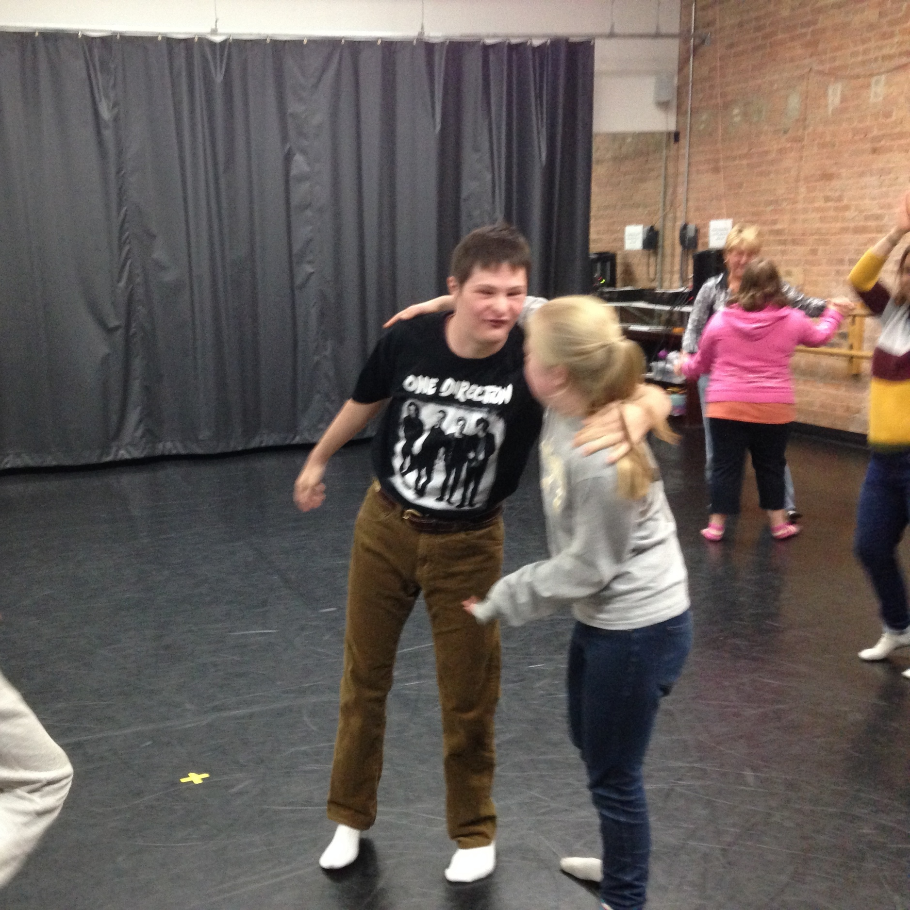 Andrew and Rachel rocking out during Dance Party!