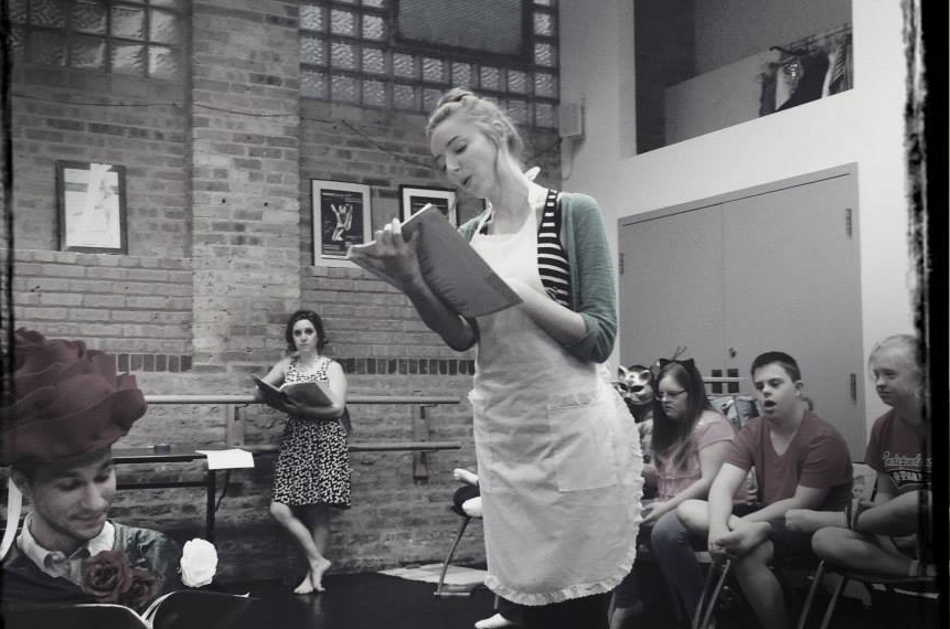 Filling in as Alice during   Adventures in Wonderland   rehearsal.
