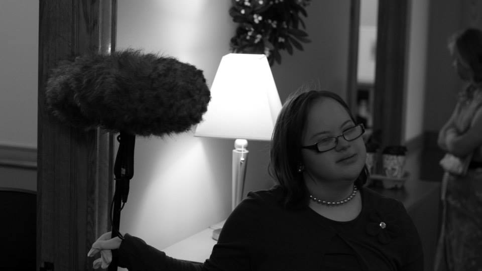 actors also assited behind the scenes - here with boom mic.jpg