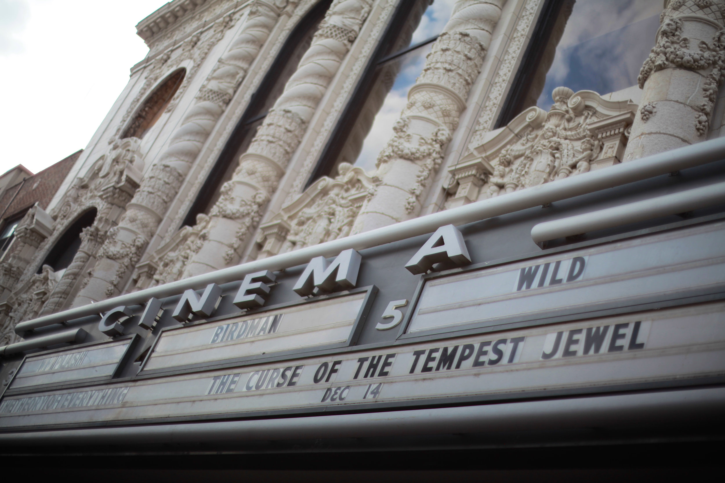On the marquee at Landmark Century Center for the premiere of   The Curse of the Tempest Jewel    photo by Carl Morrison