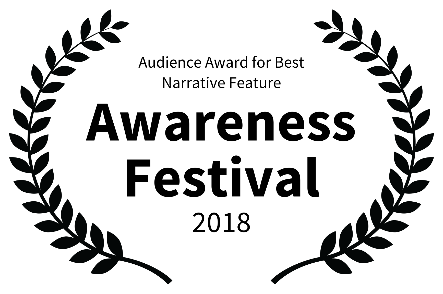 Audience Award for Best Narrative Feature - Awareness Festival - 2018.png