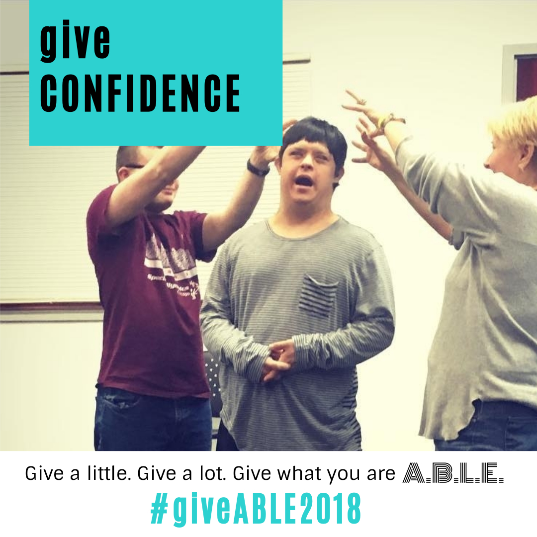 A.B.L.E currently hosts 4 ensembles – 2 for adults and 2 for teens. Each ensemble meets weekly to rehearse for their big end of semester performance. It costs $875 to rent rehearsal space for just one ensemble each semester! Can you help? Make a contribution to #giveABLE2018 at bit.ly/giveable2018