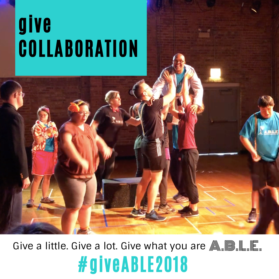 In addition to our core ensembles, A.B.L.E. also brings in guest artists, like Frantic Assembly who hosted a series of sessions with us this fall. These are important opportunities to connect our ensemble with the professional community and broaden their exposure to different styles of work. If we can surpass our $7000 goal for #giveABLE2018, that will allow us to offer even more guest artist experiences for our actors. Can you help? Make a contribution at bit.ly/giveable2018