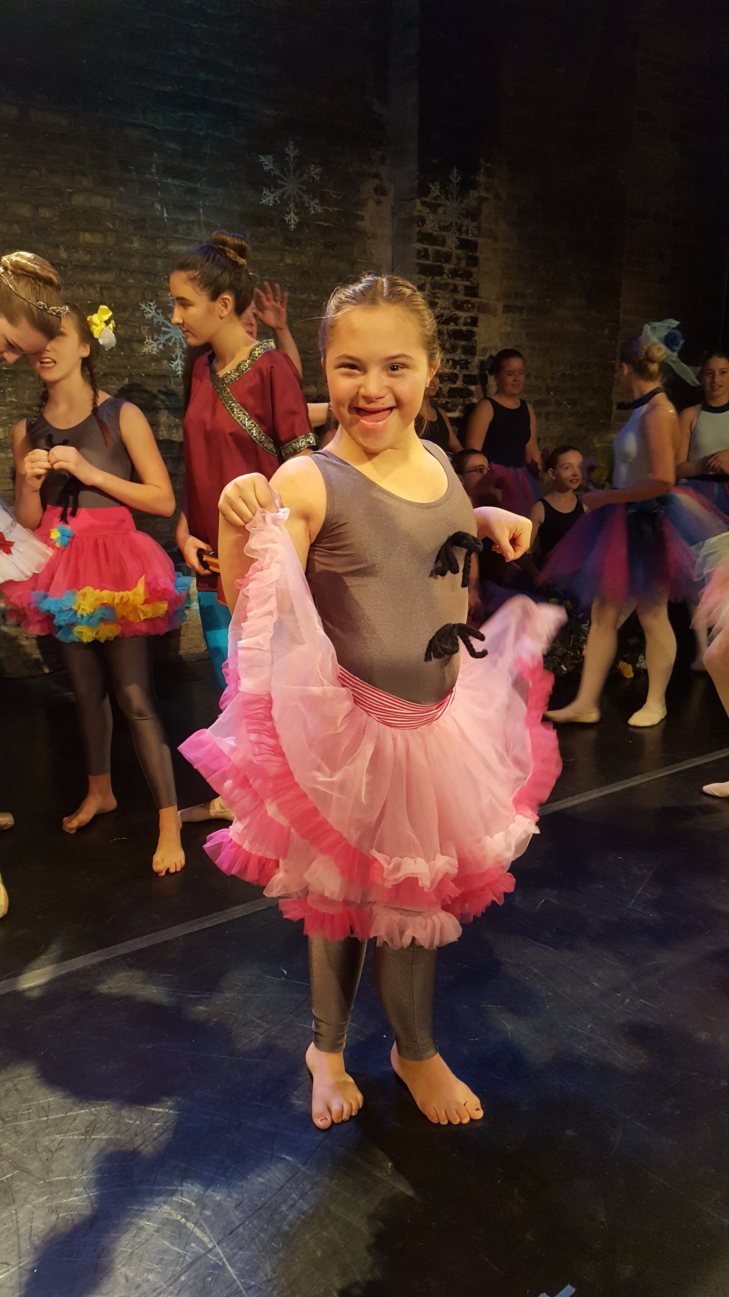 Sandia celebrates a dance recital