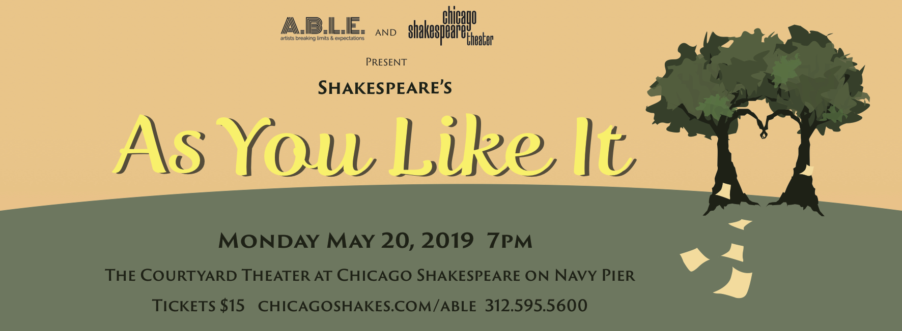Tickets available at  chicagoshakes.com/able