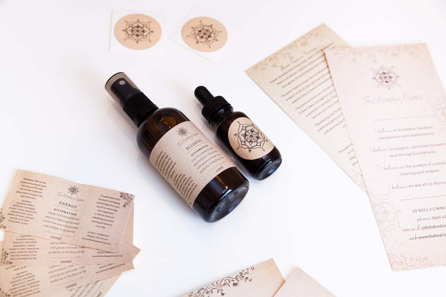 Healing Essence Graphic Design & Packaging Design