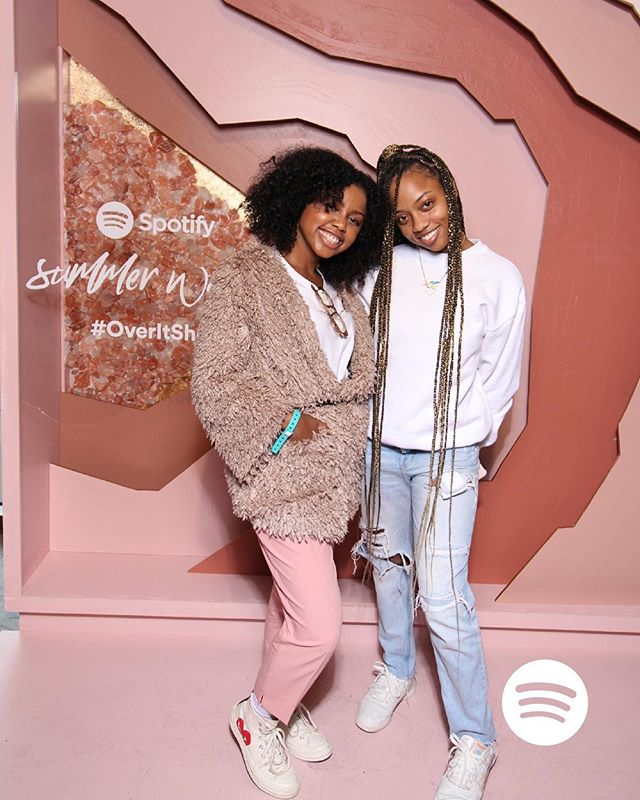 So proud of my friend/cousin/sister @maliashutup for all of her success at LVRN and with @summerwalker's debut album #OverIt 💞🤸🏾♀️