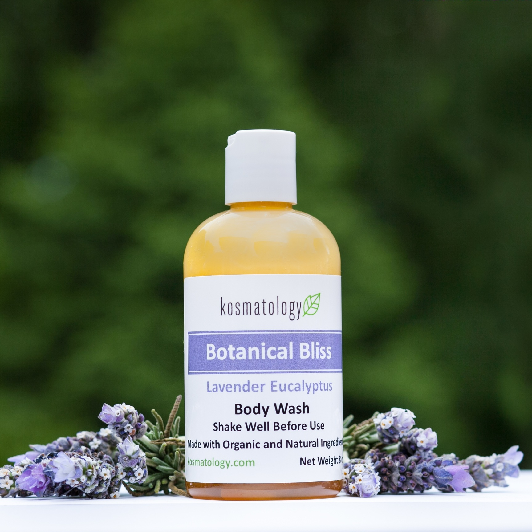 Botanical Bliss Body Wash pictures with lavender flowers