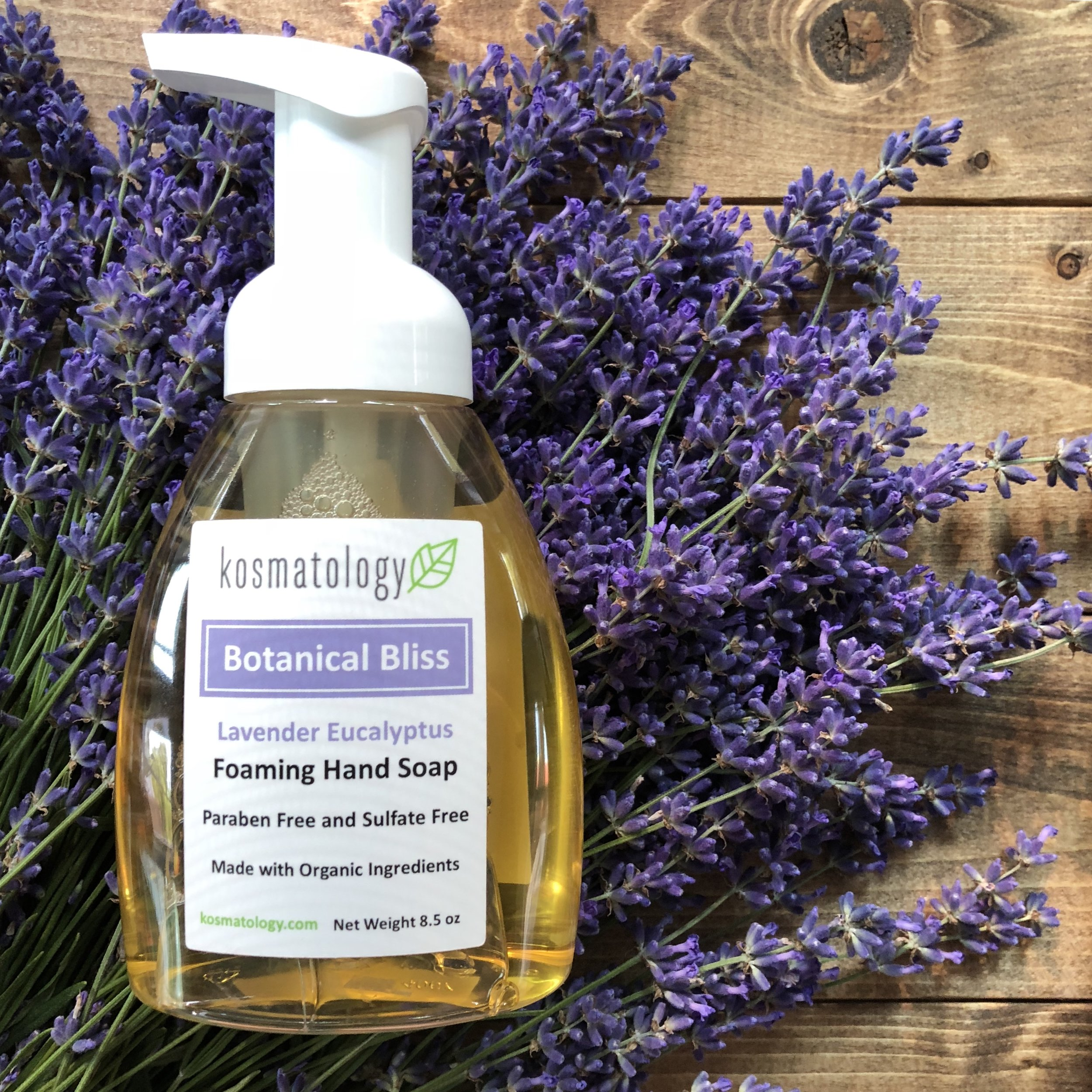 Botanical Bliss Foaming Hand Soap with Lavender Flowers