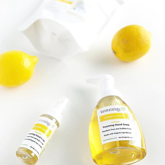 When life DOESN'T give you lemons... we're here for you with lots of citrus goodness!  And as always, the lemon scent comes from the essential oil of actual lemons. 🍋Anyone else crazy for all things lemon? ⠀⠀⠀⠀⠀⠀⠀⠀⠀ ⠀⠀⠀⠀⠀⠀⠀⠀⠀ 📷@organicallybecca⠀ ⠀ ⠀ #kosmatology #handsoap #essentialoils #soap #organicsoap #handcrafted #simpleingredients  #organicskincare #nationalforest #cleanbeauty #greenbeauty #bestofgreenbeauty #skincare #skincareroutine #skincaretips #skincareblogger #shopsmallbusiness #shopsmallbiz #lemon #notriclosan #summer