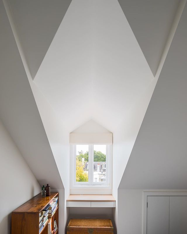 Attic conversion and gorgeous angles at House Fenn. Built by #TrumanBuilding Photo by @evanmacleanphotography