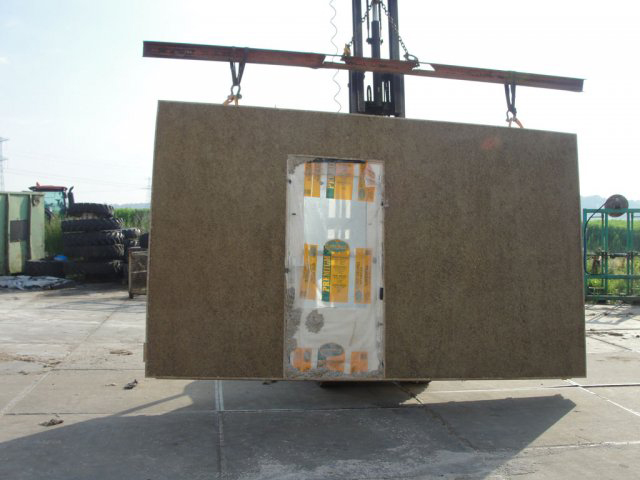 A hemp wall being lifted into place in a Tasmanian, energy-efficient house - image courtesy of Hempcrete.com.au.