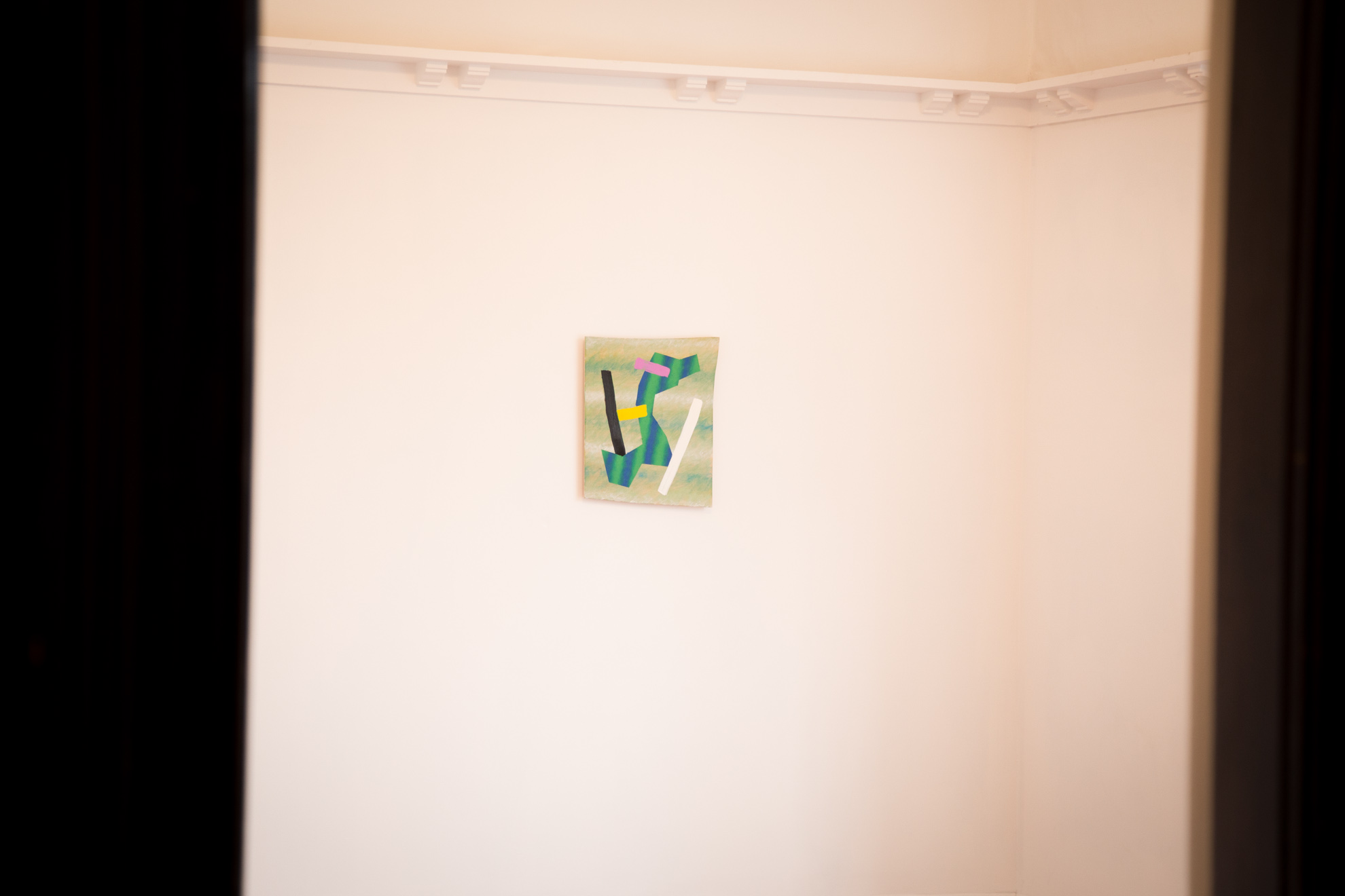 Install of  17 Paintings  at The Young  Photo courtesy  Matt Bialostocki