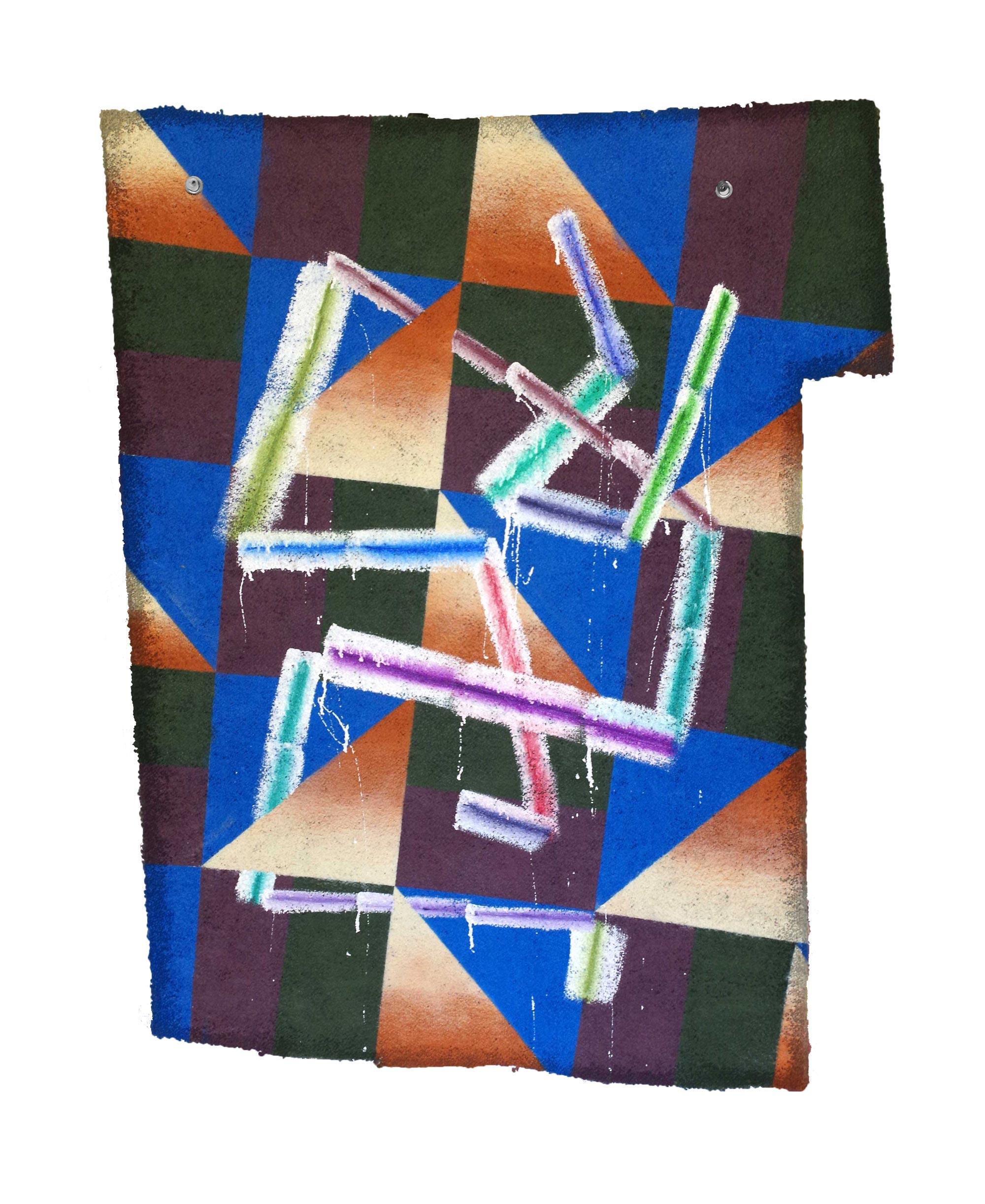 C.W.C.W. (2016)   Oil, Enamel & Spray Paint on Carpet