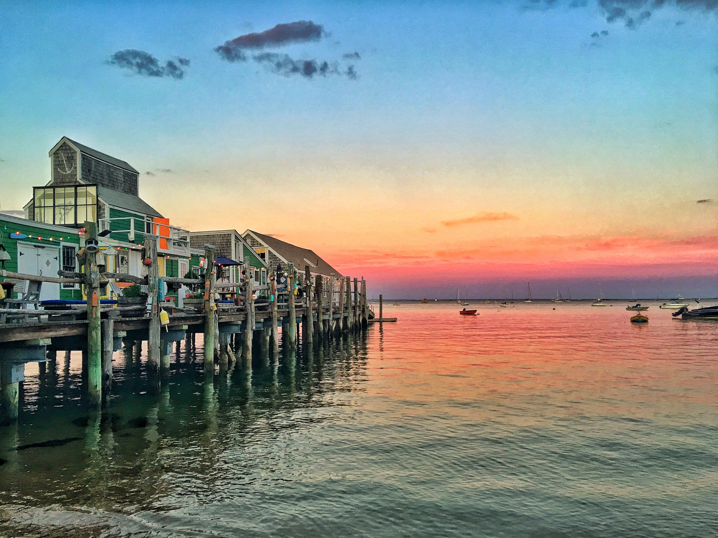 Sunset by the wharf.