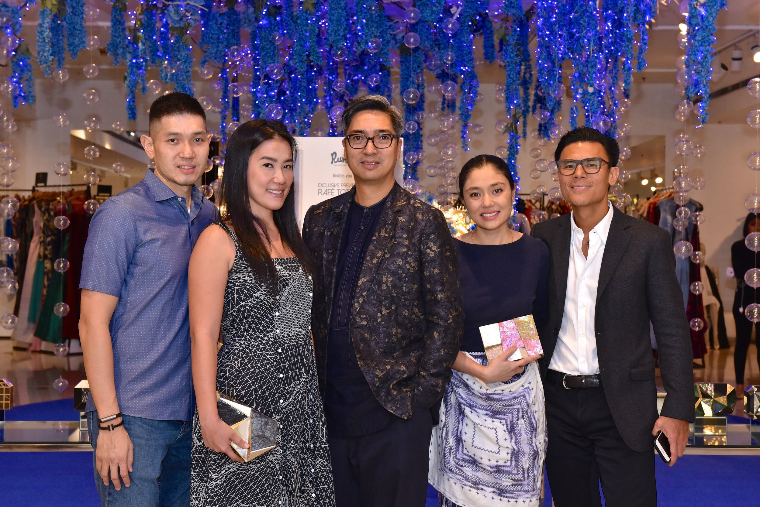 Mike Huang, Vice President of Rustans and his wife Kathy Huang, me, Dina Arroyo Tantoco, Marketing Director and Donnie Tantoco, President of Rustans