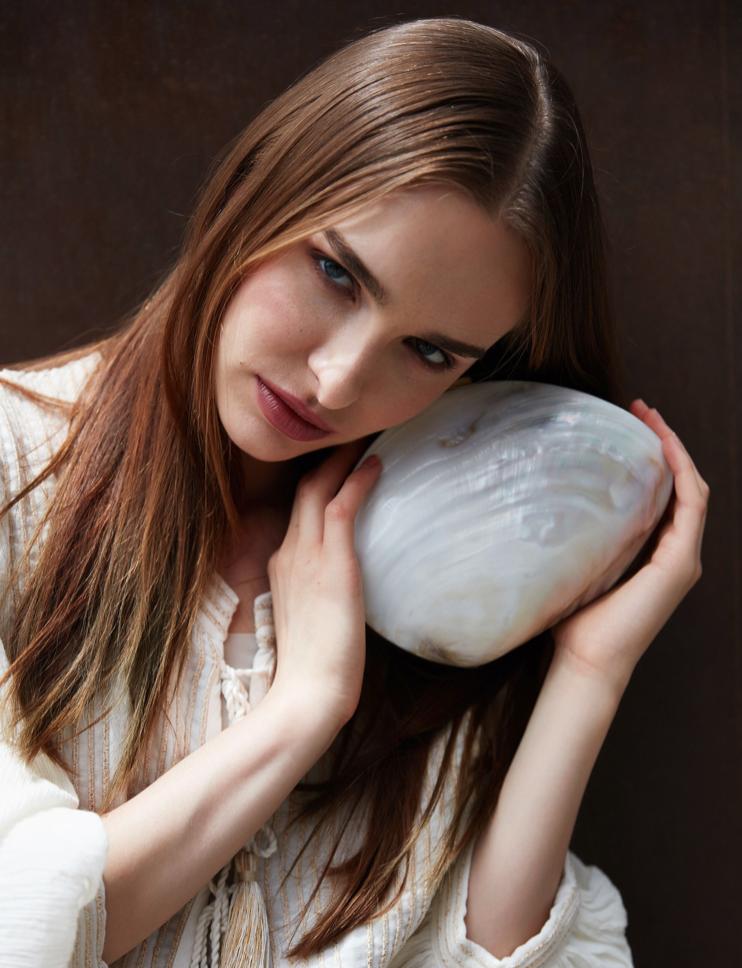 SIRENE SOLID SHELL MINAUDIÈRE - WHITE SHELL
