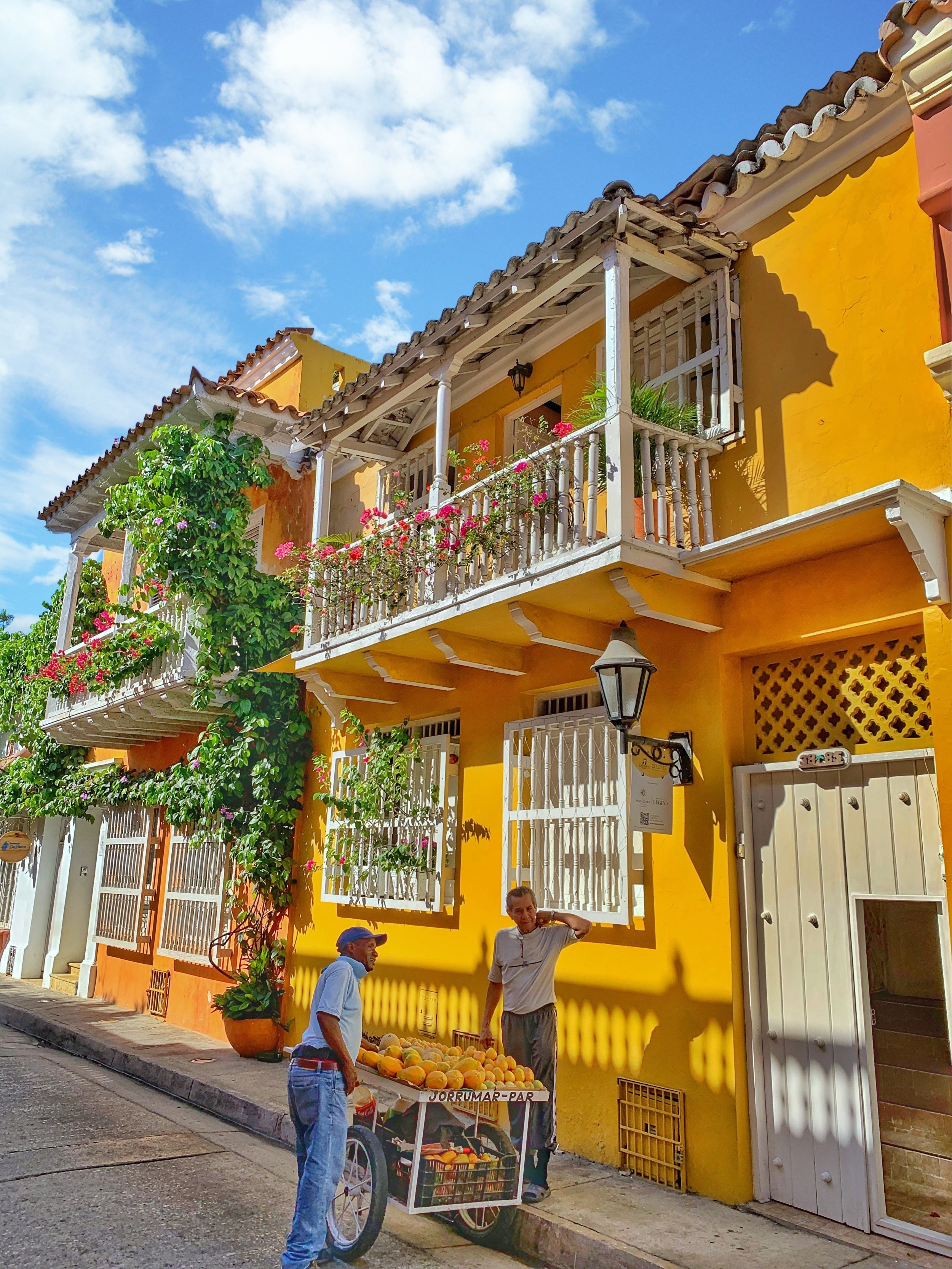 Each house was as colorful as the next with street vendors selling fresh and succulent fruits.