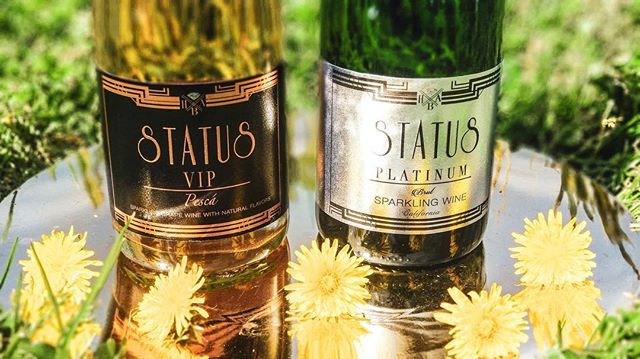 Have a sparkling day on us!!! What's your STATUS? . . . . . #statussparklingwines #status #whatsyourstatus #mylacor #spring #springbreak #sunnyday #summer19 #sunflower #bubbly #sparklingwine #vip #brut #california #natural #flavors