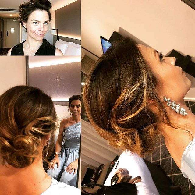 Wispy updo for Niav.. #updo #vintage dress #elegant #hairandmakeup #hostingevents