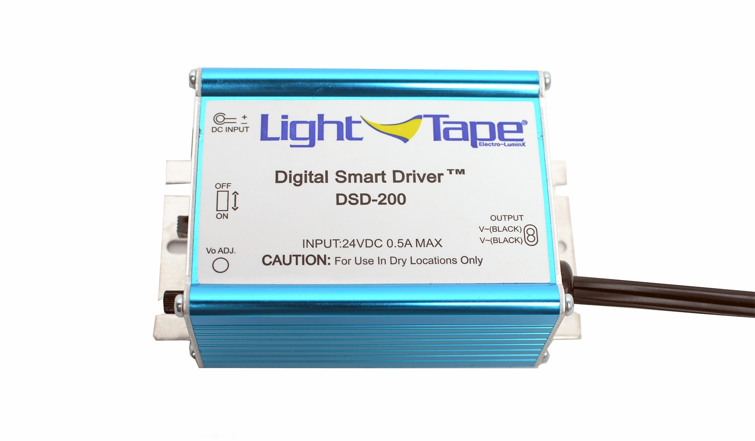Model DSD-200  Illuminated Area:5-250 sq. in. Input Current:1-90 mA Input Voltage: 120 or 240 VAC Input Frequency: 50/60 Hz Output Voltage: 200-300 V Output Frequency: 500-800 Hz