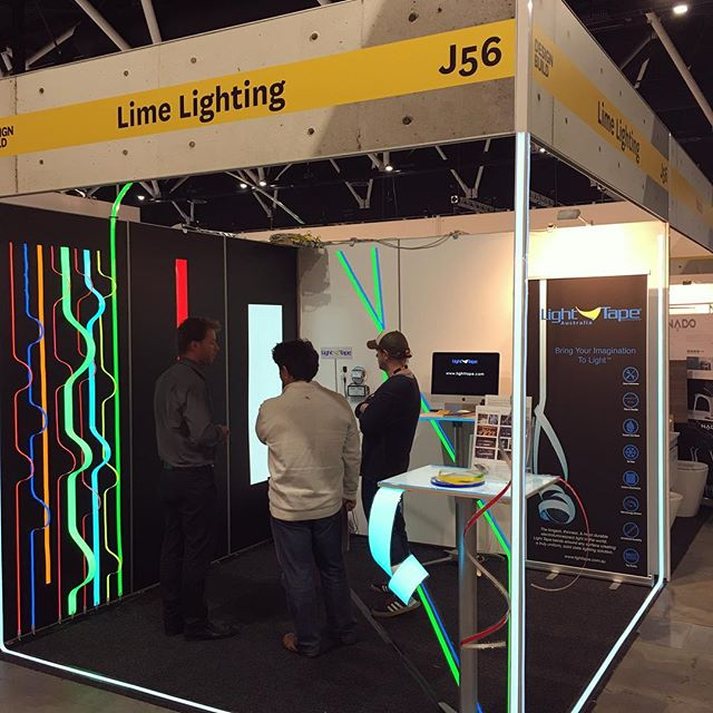 It's not too late to come see light tape in action! Look forward to seeing you tomorrow for the final day of #db2017  Design Build expo at the Sydney exhibition centre  #designbuild #innovative #limelighting #expo #lighttape #lighttapeaustralia #limelighting #lightingdesign #lightinginspo #eventdesign