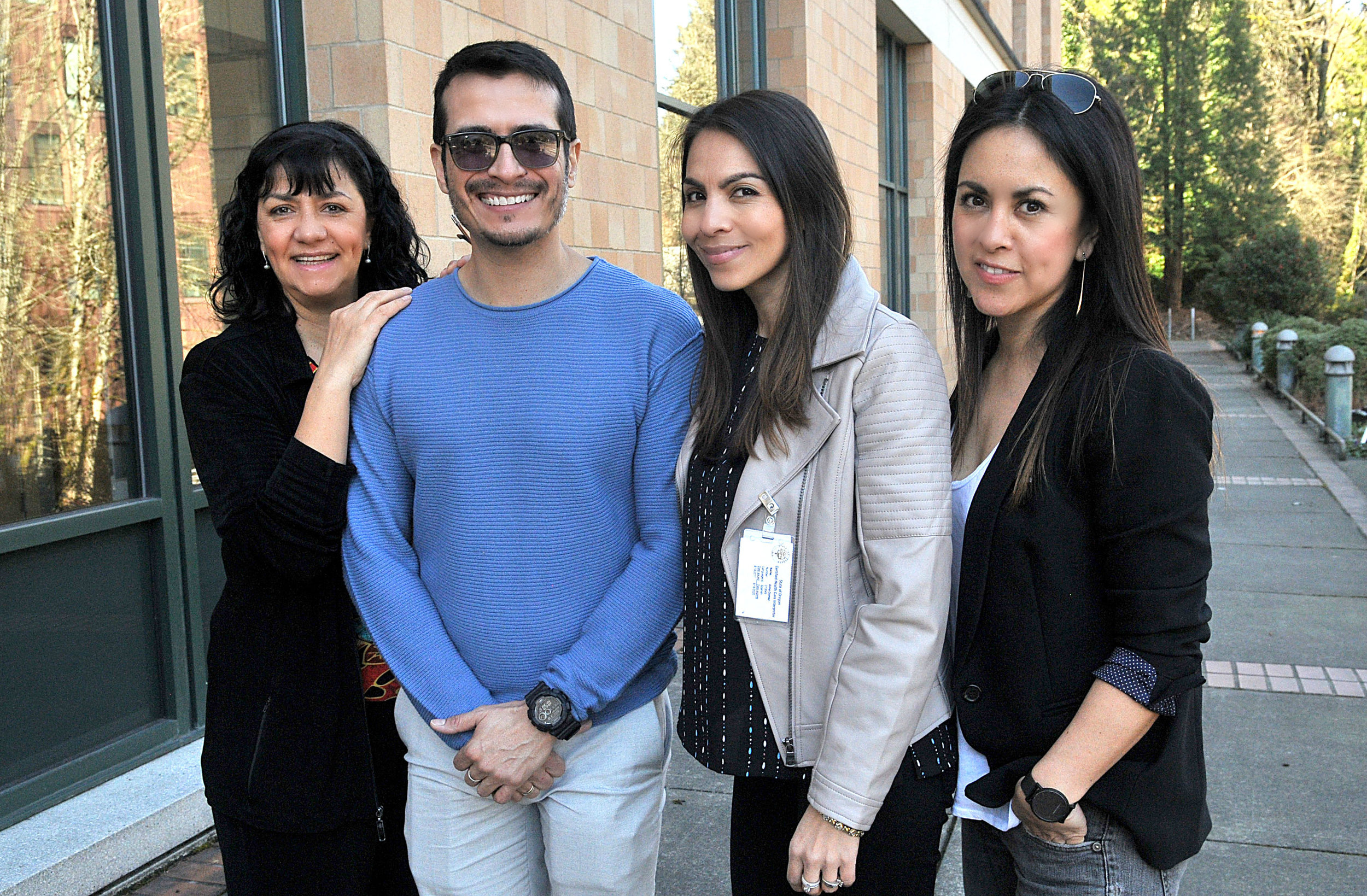 Photo: Vern Uyetake - Lake Oswego Review  From left: Executive Director Susy Molano, Training Director Guillermo Ortiz, Master Interpreter Project Manager Alma Gomez and Events and Development Manager Carola Ibanez. Not pictured is Training Director Mary Soots.