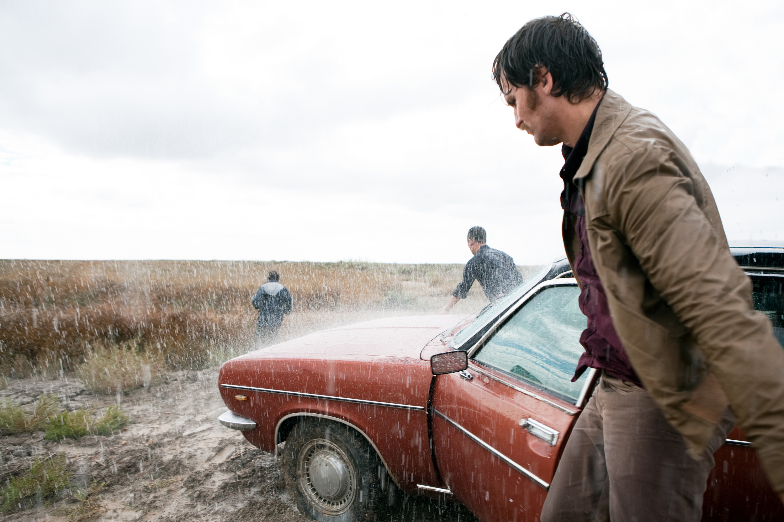 Raúl Arévalo and his partner set out in search of a serial killer in the bleak but beguiling landscape of  Marshland  (La Isla Mínima).