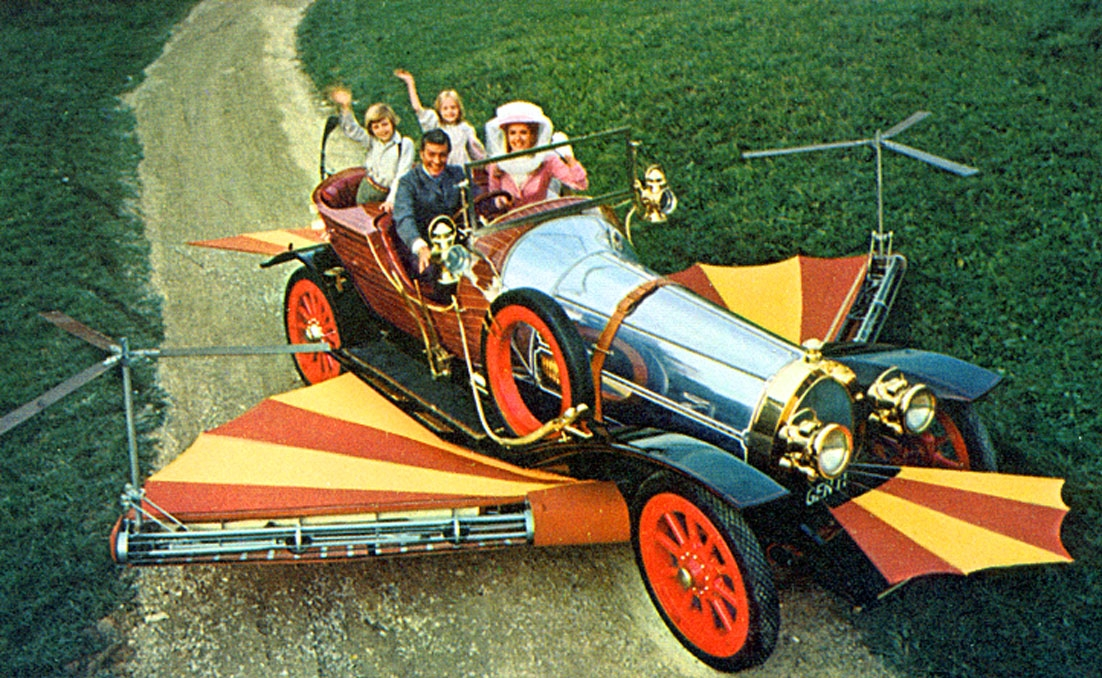 The handful of feature film screenplays that Dahl wrote includes another bright, fantastical staple of childhood viewing:  Chitty Chitty Bang Bang  (1968).
