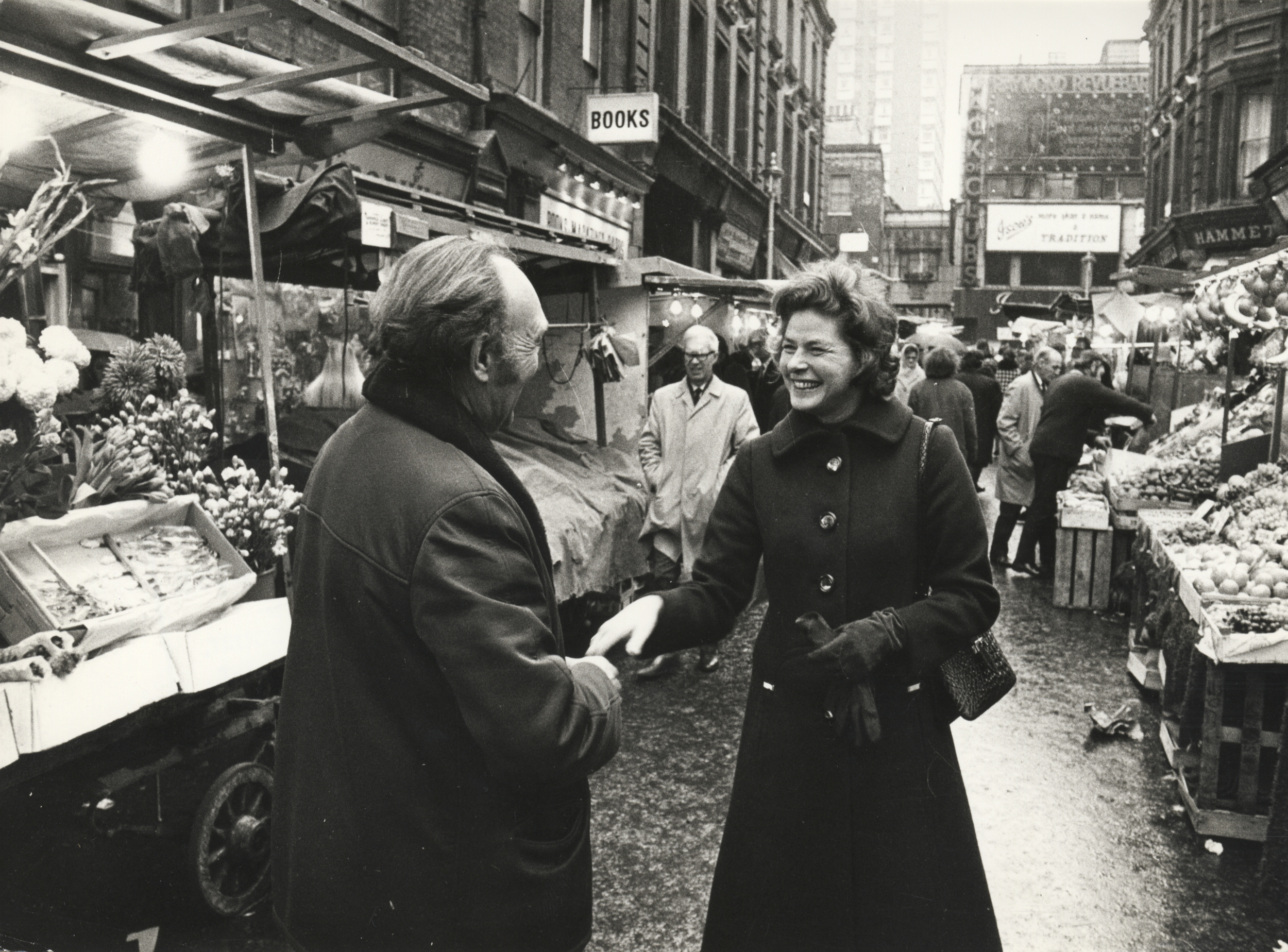 Spotted in Soho (Berwick Street market). Ingrid Bergman spent most of her later life living in London.