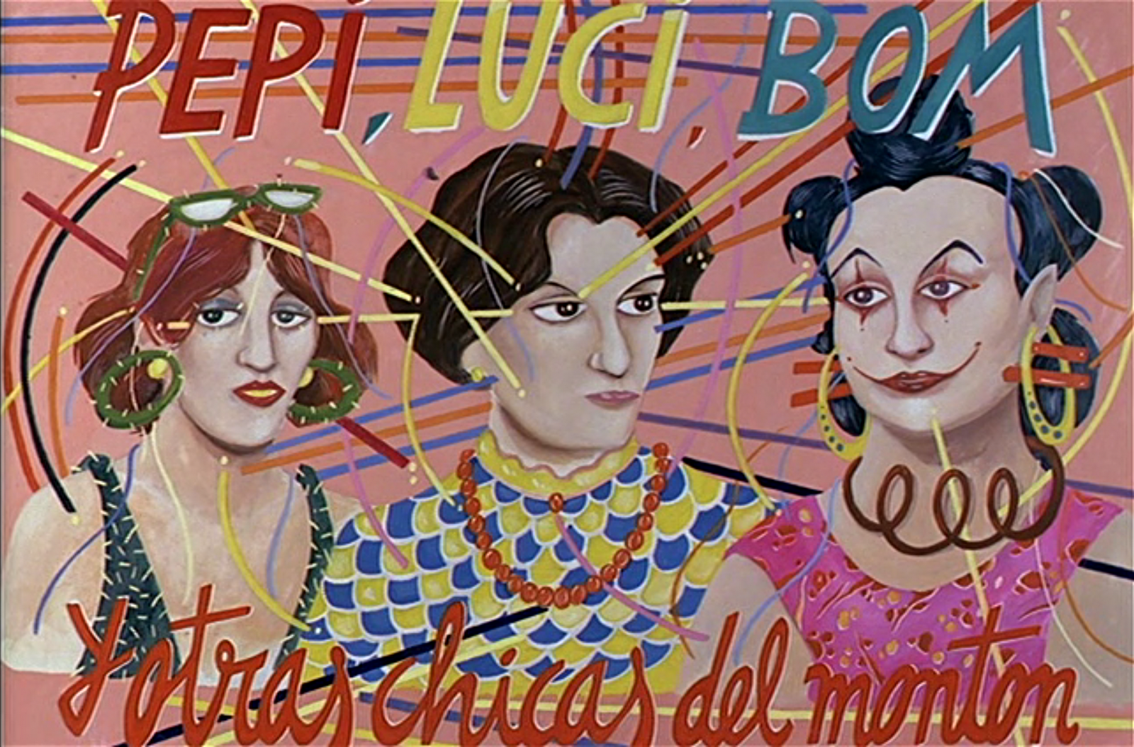 Almodóvar's first feature film,  Pepi, Luci, Bom  (1980), pulled influences from all corners of European and American youth culture but most of all from comic books and punk music.