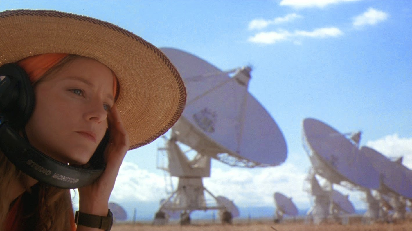 Jodie Foster listens for extra-terrestrial messages in  Contact .