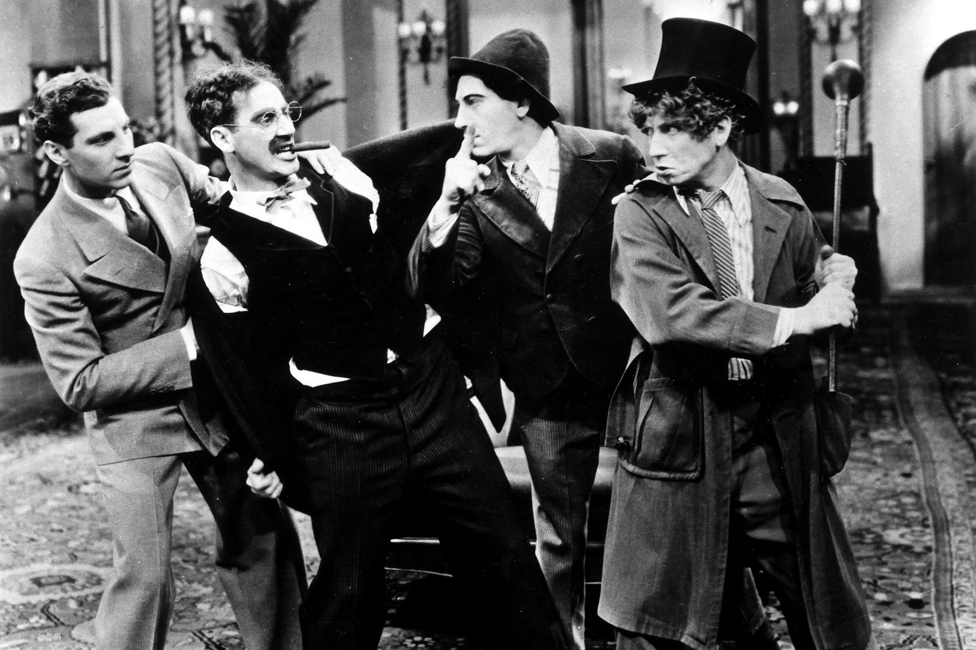 And if you split the id into multiple parts, you get the proto-typical chaotic intruders, the Marx Brothers...