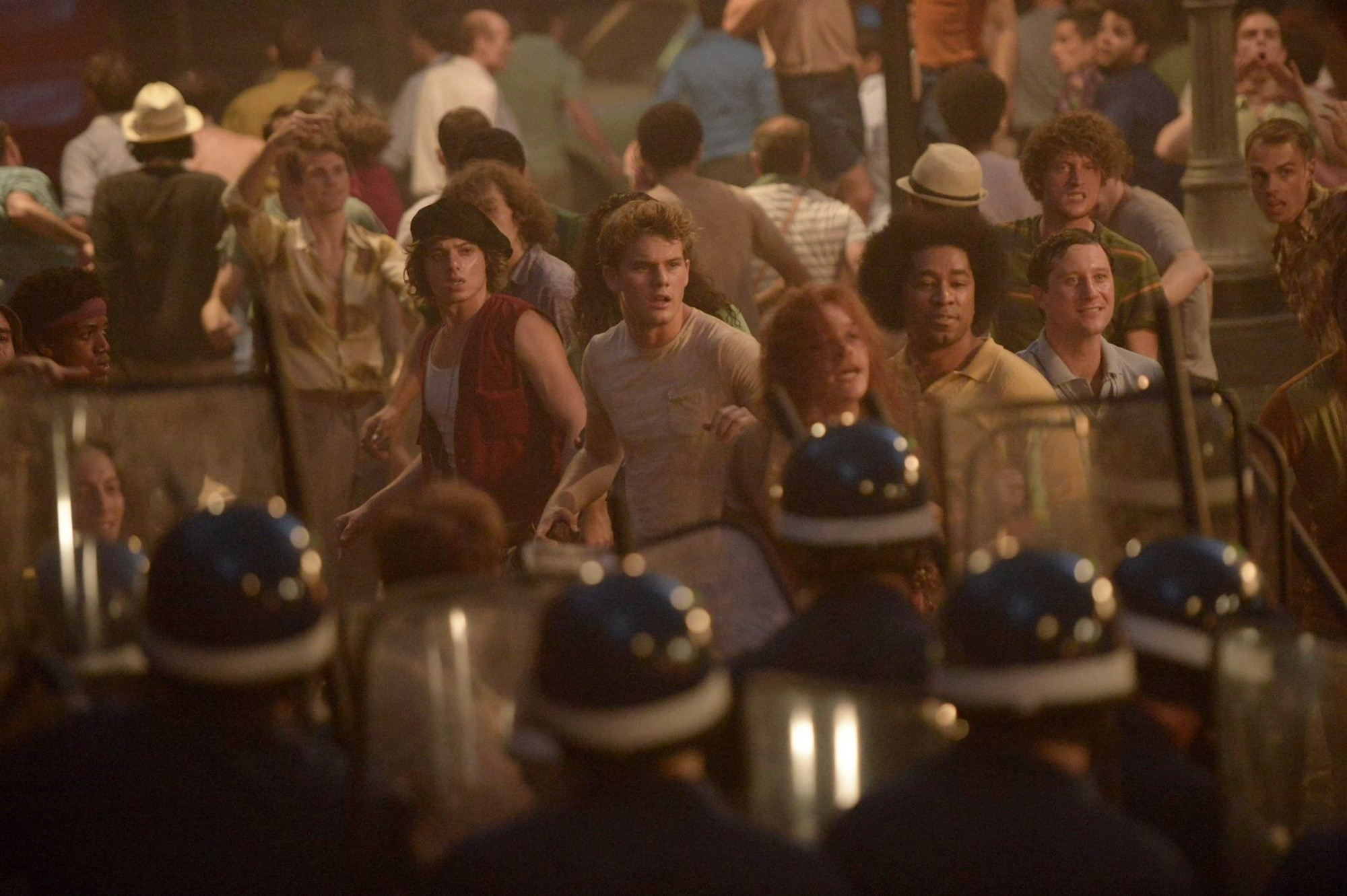 Jeremy Irvine plays the bland cypher at the centre of Roland Emmerich's underwhelming portrayal of the origins of America's gay rights movement, Stonewall .