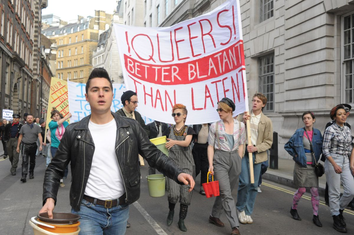 Ben Schnetzer plays a country boy in the out-and-proud gay scene of 1970s soho in  Pride , the feel-good antidote to  Stonewall's deficient portrayal of the gay rights movement.