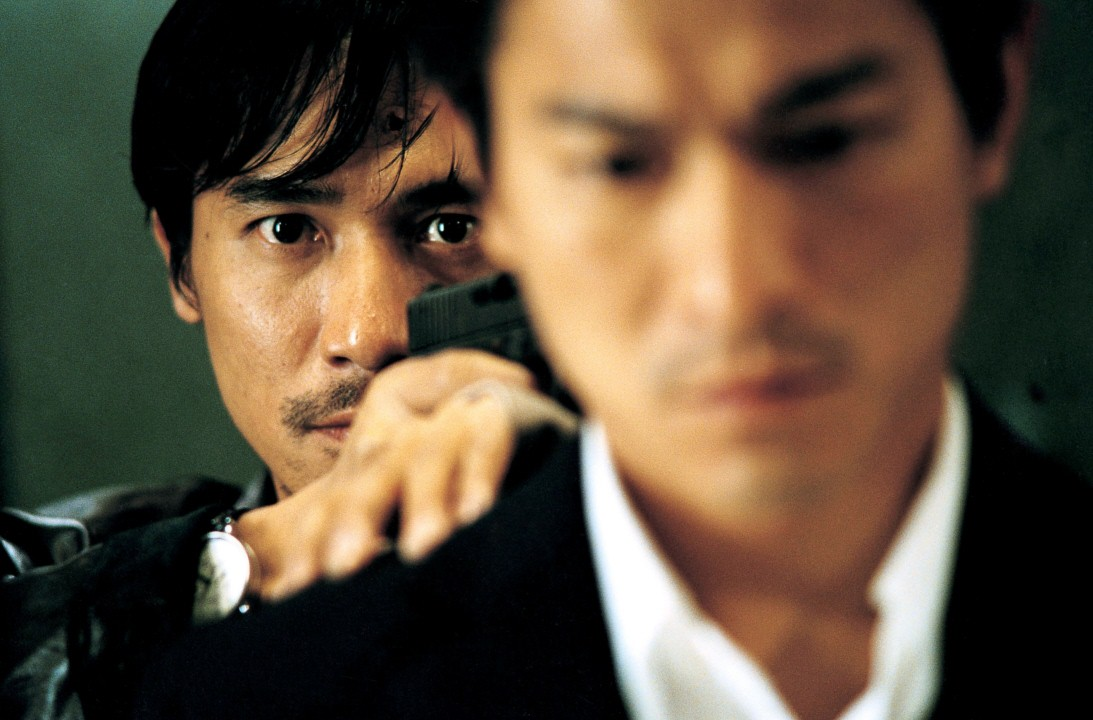 Tony Leung finally collars Andy Lau in  Infernal Affairs .