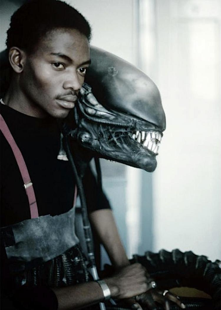 Bolaji Badelo was a graphic design student in London, when he was spotted by members of the  Alien  crew in a pub near Shepperton. He was then hired to wear the 7'-tall alien suit.
