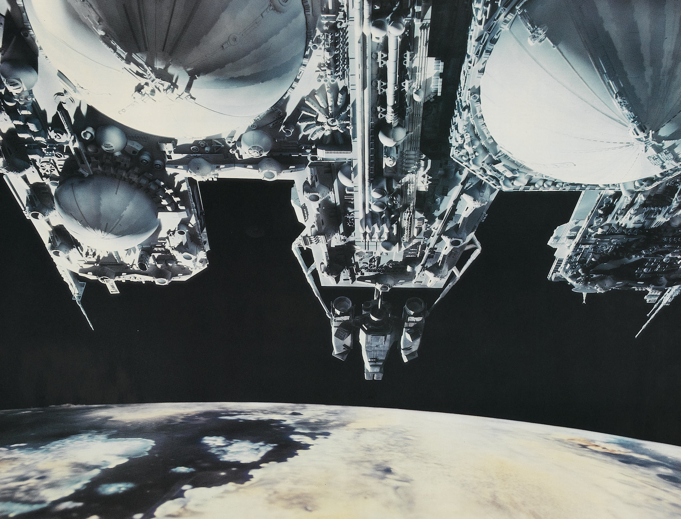 In addition to the face hugger and the alien,the film featured two more monsters in the form of its haunted house settings: HR Giger's derelict spacecraft, and Ron Cobb and Ridley Scott's floating haunted house, the Nostromo.
