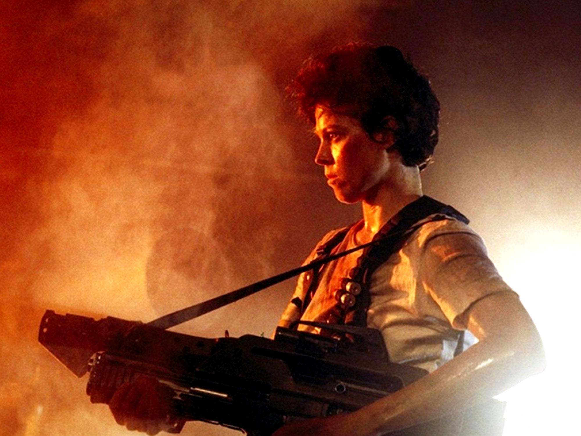 Sigourney Weaver in Aliens 1986