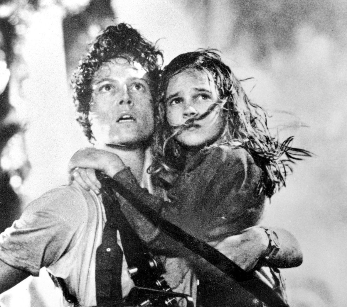 Ripley and Newt in Aliens 1986