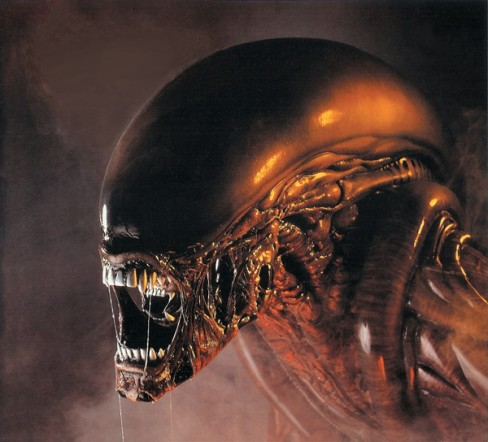 Fincher insisted on having H.R. Giger return to the xenomorph design team, and for the dog-alien design Giger reinstated the transluscent head dome form his original design.