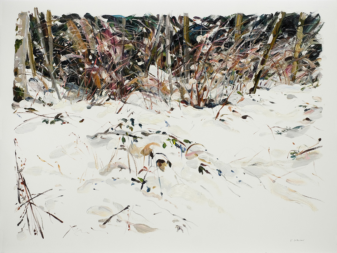 SnowSeries-BetweenHereAndTheHills_OIlOnPaper_27x34Framed_2018.jpg