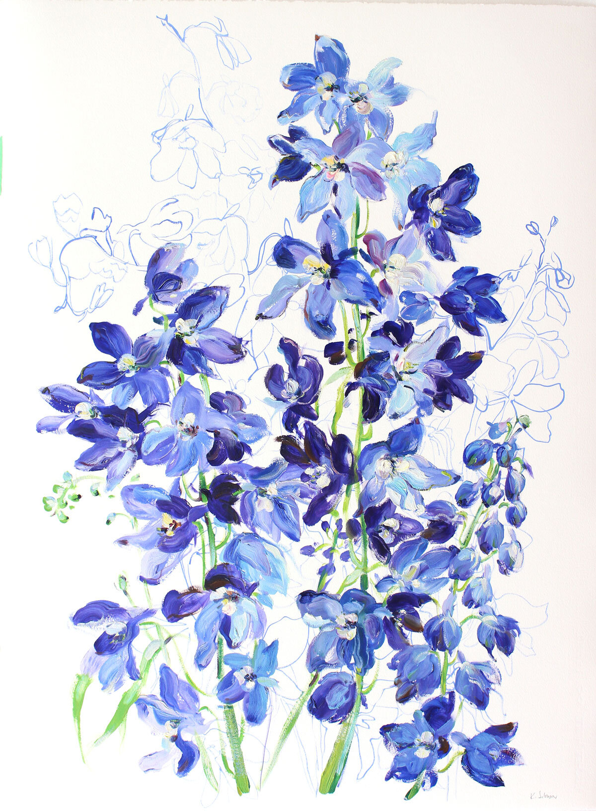 Delphiniums-Excited For Your Arrival