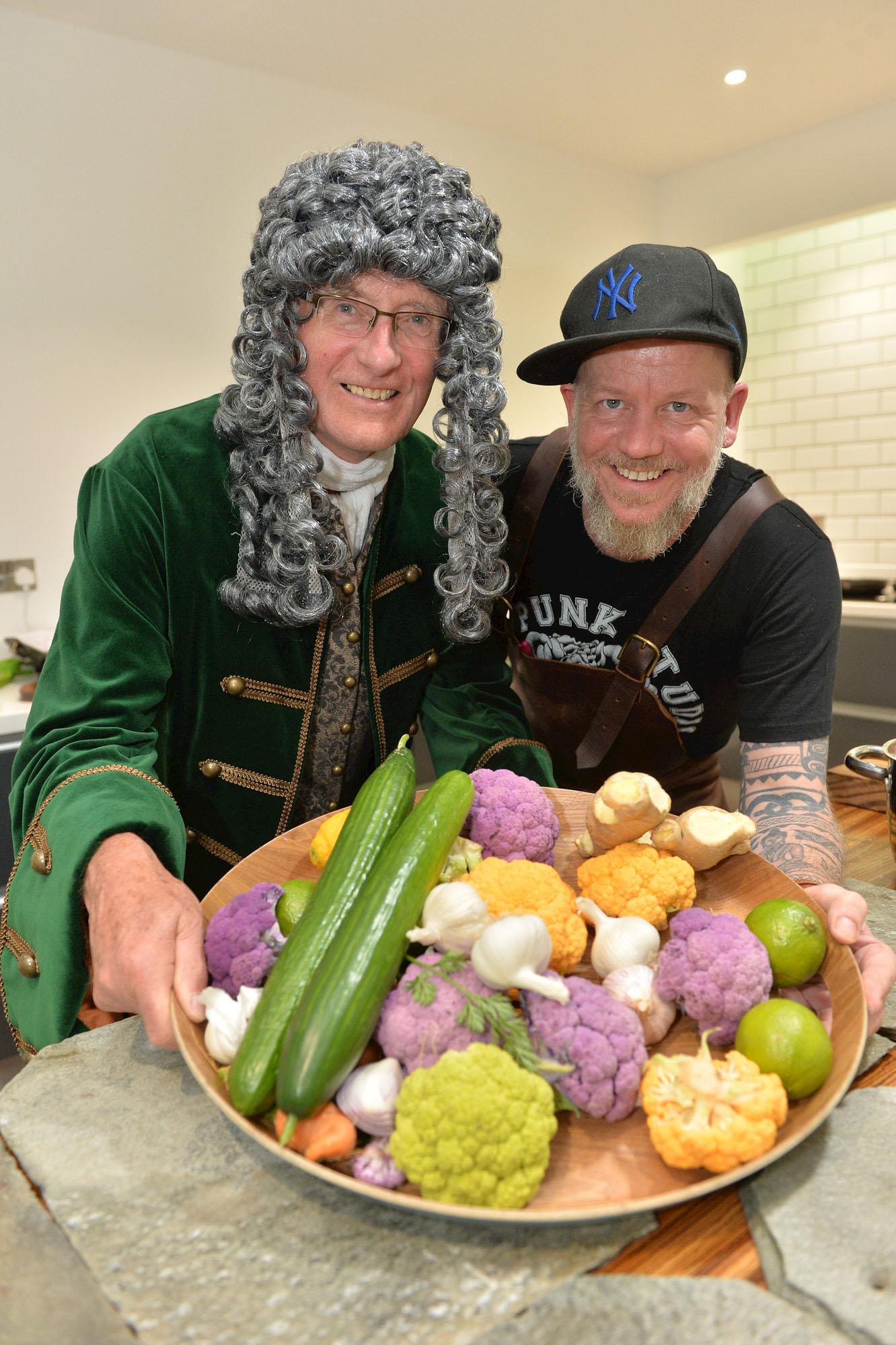 Hans Sloane with chef Chris Burt