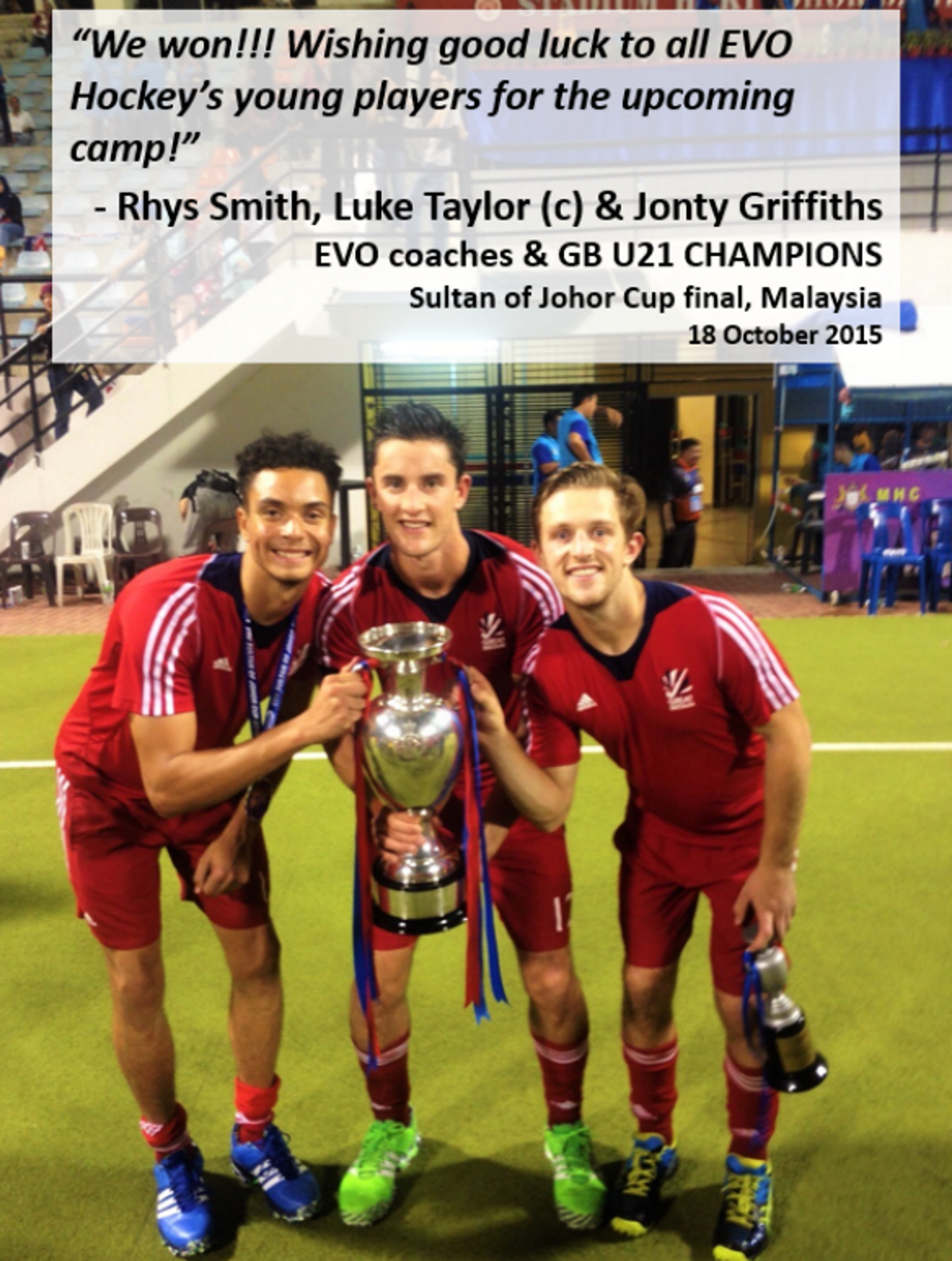 A personal message from Rhys, Luke & Jonty to the EVO Hockey players at our upcoming camp!