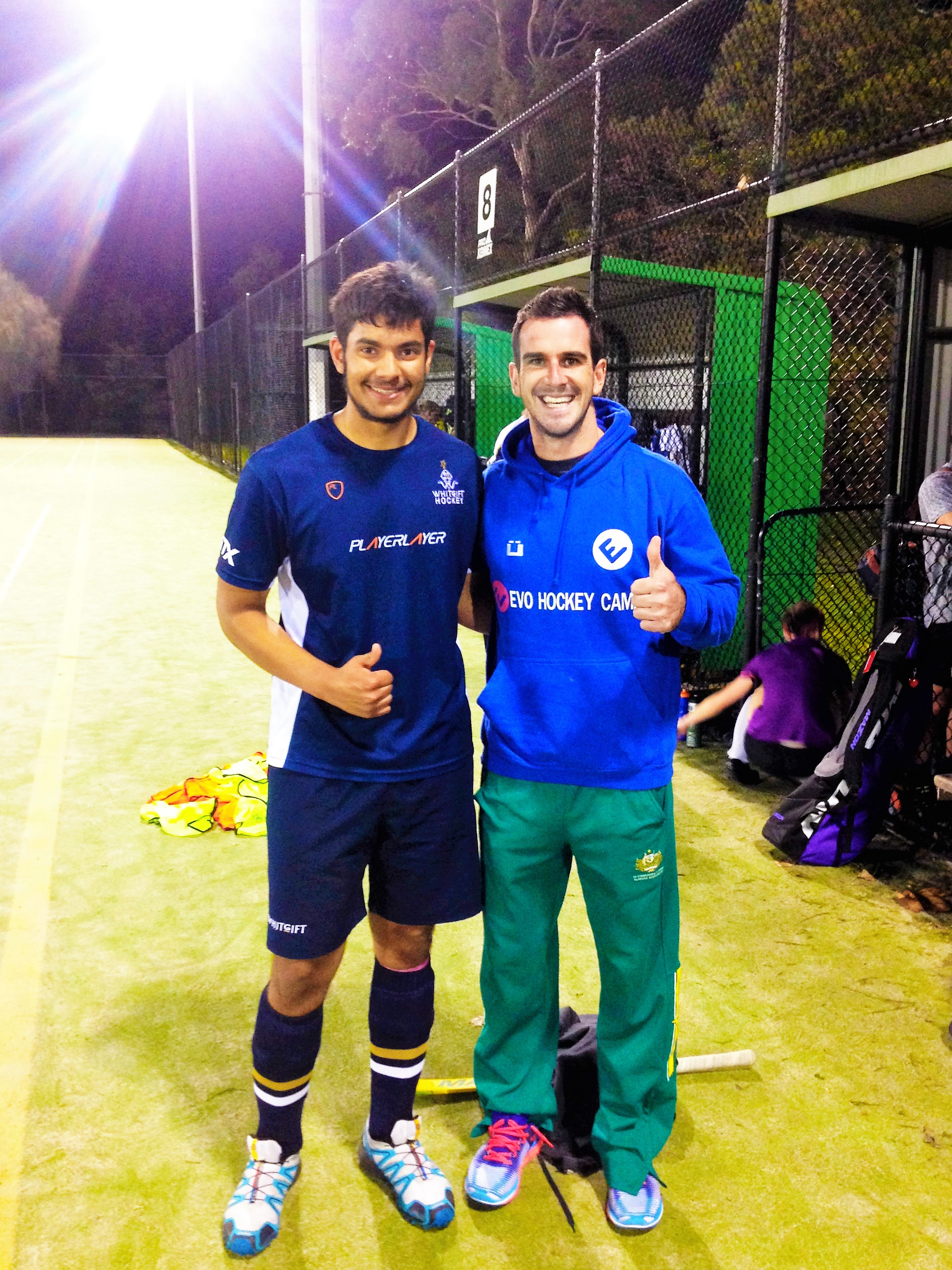 Johann with Australian legend Kieran Govers