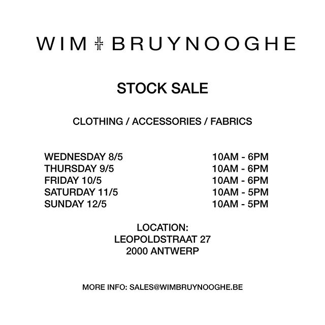 Today! #stocksales