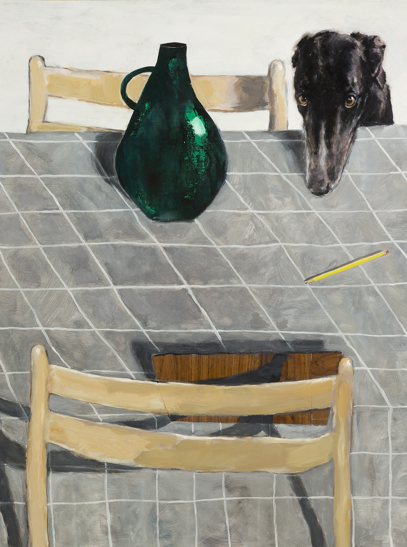 adrian_stojkovich_dogs_and_table_setting_detail_oil_painting_on_panel_2017_website_cover_image