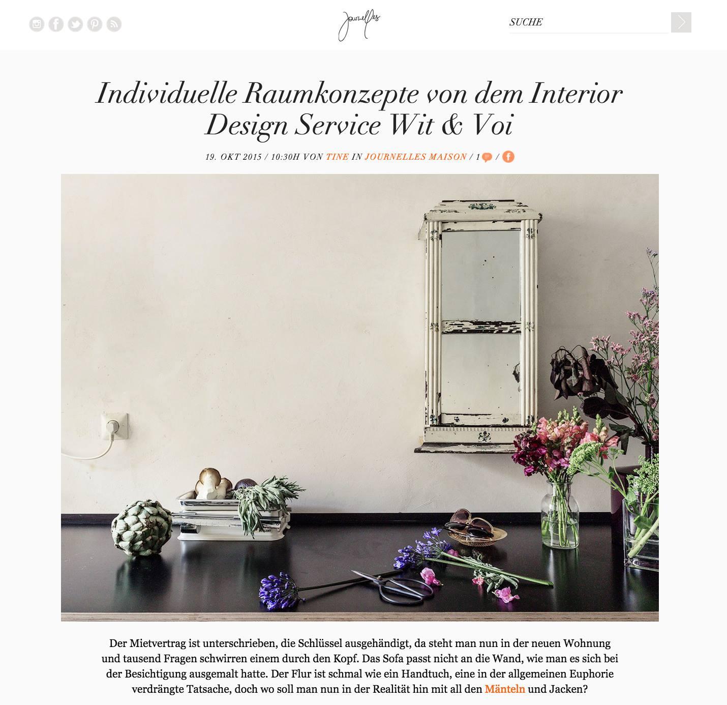Journelles - Individuelle Raumkonzepte von dem Interior Design Service wit & voi