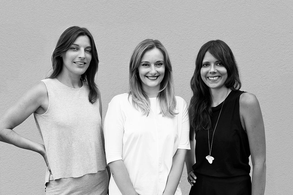 of/Berlin  Gründerinnen v. links: Karoline Ahner, Catrin Soldo & Vesna Zaneta